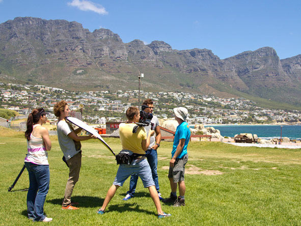 Donyale MacKrill - filming with friends and colleagues in Camps Bay, Cape Town.