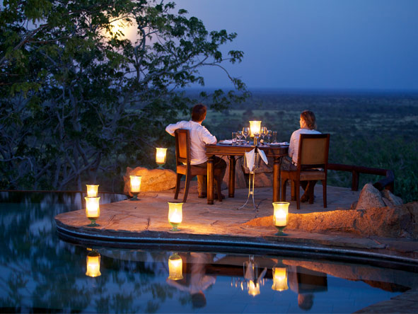 Lavish Getaway Flying Safari - Romantic alfresco dining