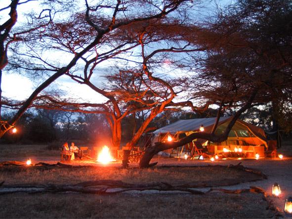 Amboseli & Mara 4x4 Safari - Campfires & candlelight