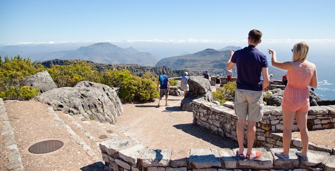 Insider Tips for Going Up Table Mountain - view down