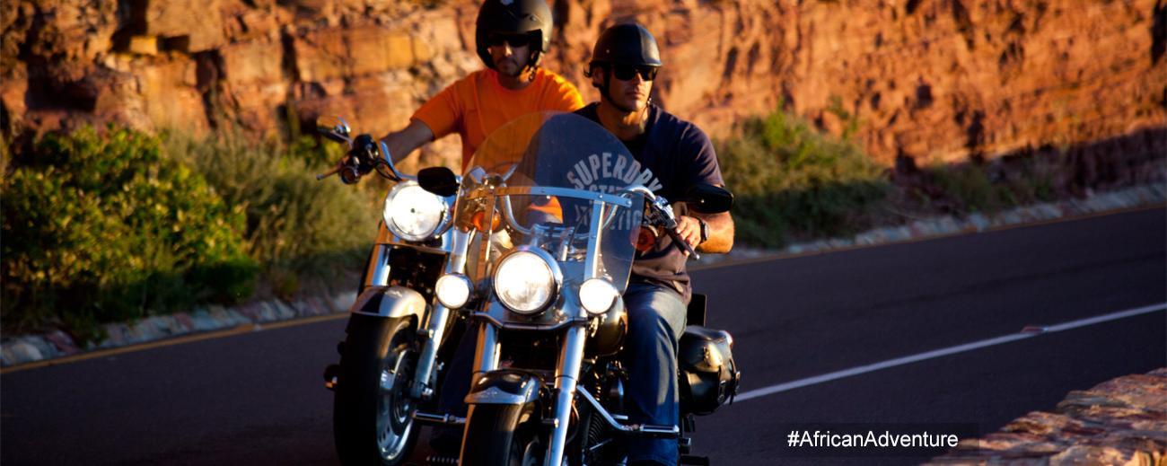 African Adventure biking - banner