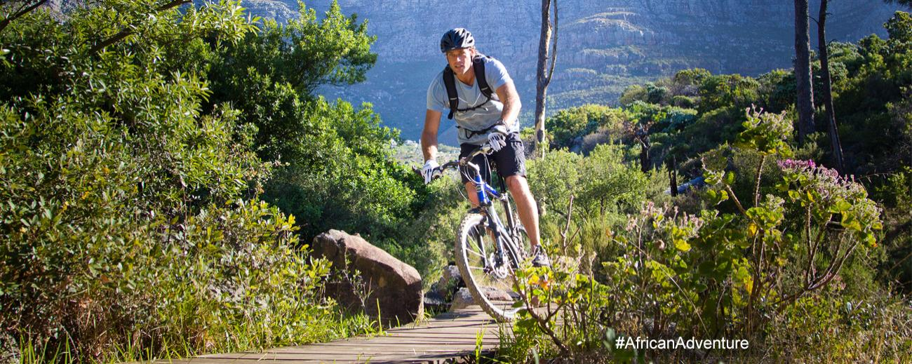 African Adventure mountain biking - banner