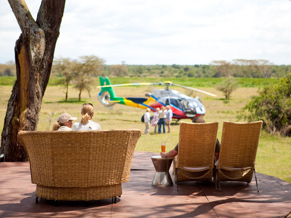 Solio Lodge - Helicopter safaris