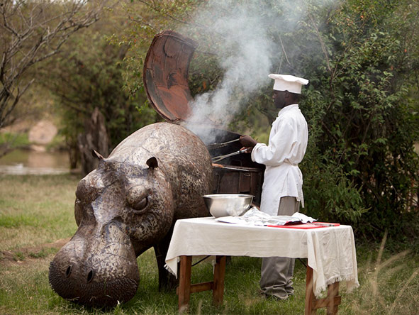 Serian Nkorombo Camp - Bush meals