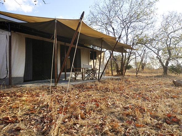 Kwihala Camp - tent exterior