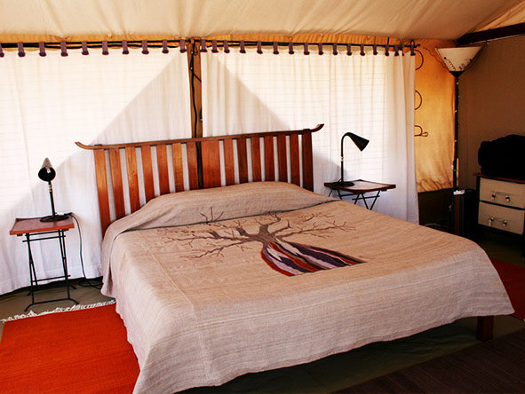 Kwihala Camp - tent interior