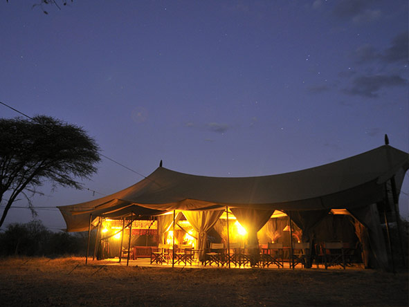 Kwihala Camp - night time