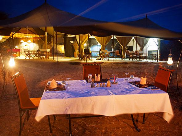 Kwihala Camp - dinner