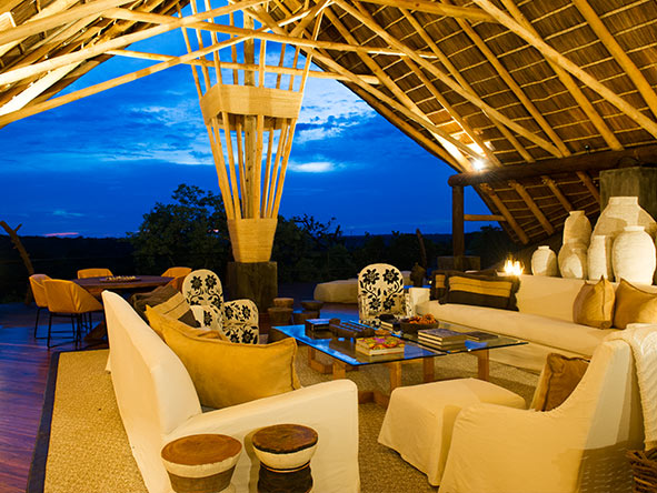 Mwiba Lodge - lounge