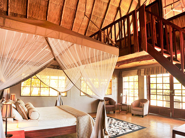 Kafunta River Lodge - bedroom