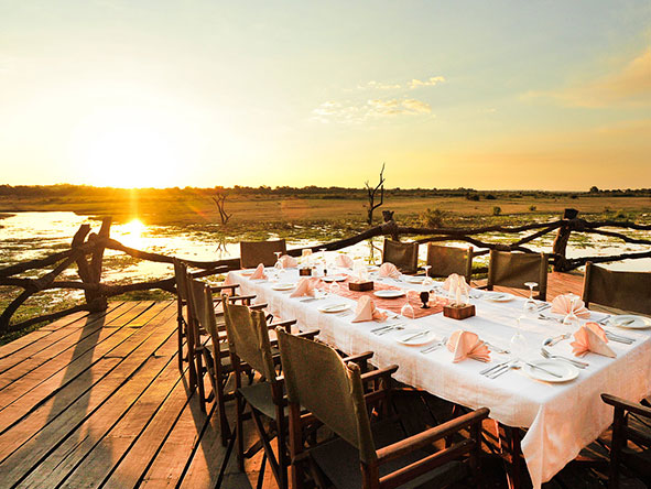 Kafunta River Lodge - dining