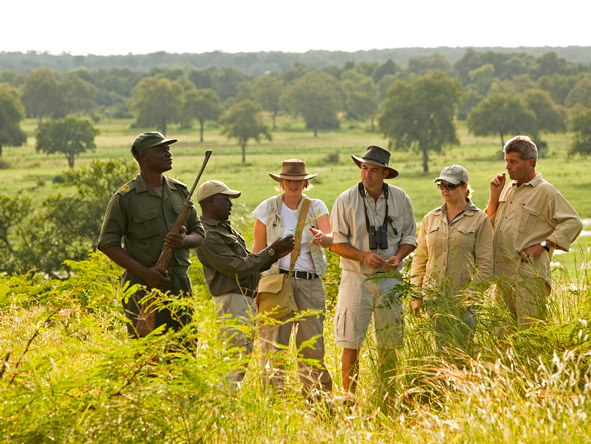 Three Sanctuaries Safari in Zambia - walking safari