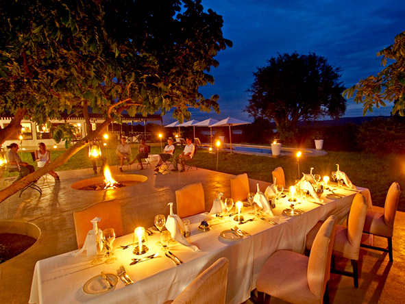 Three Sanctuaries Safari in Zambia - dining
