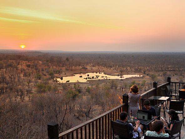 Victoria Falls Safari Lodge - sunset