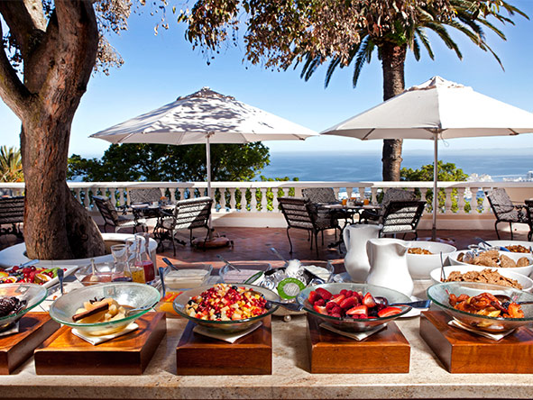 Dining at Ellerman House is nothing short of sublime whether it's sun-lit breakfast or a candle-lit supper.