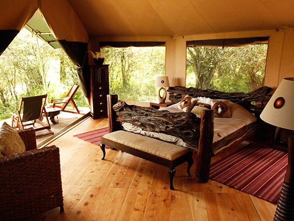 With just seven tented suites, Sala's Camp is one of the Masai Mara's most intimate accommodations.