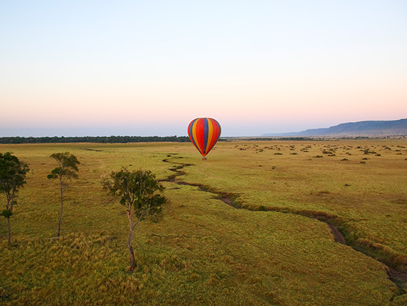 Balloon Safari - floating above the savannahEast Africa's wide open landscapes are ideal for a balloon safari.