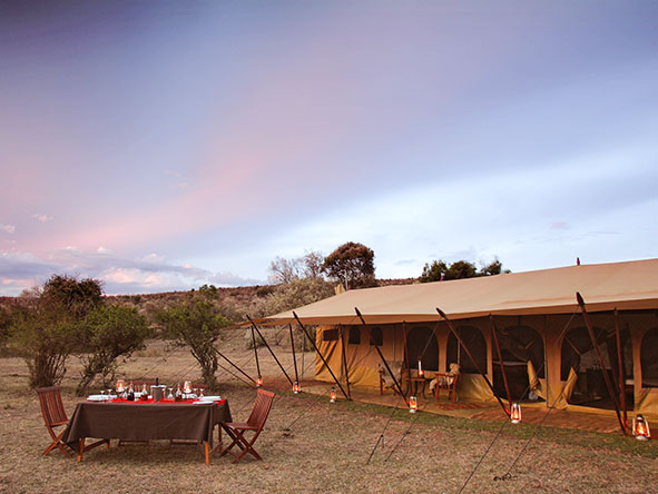 Three-tent Saruni Wild blends game viewing with cultural activities - the ideal getaway for a family or group.