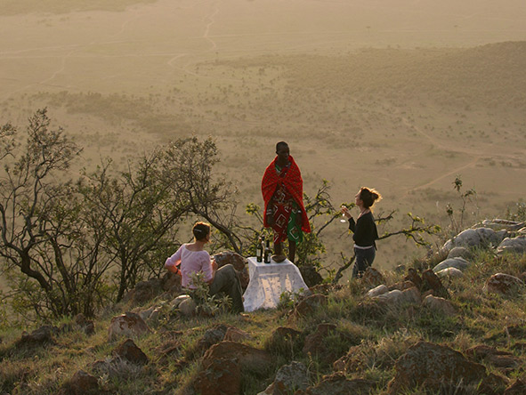 Whether you're on a game drive or bush walk, your Saruni day ends with sundowner drinks.