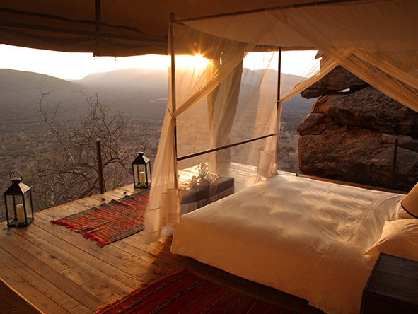 You needn't move from your bed at Saruni Samburu for some of the most breathtaking views in Kenya.