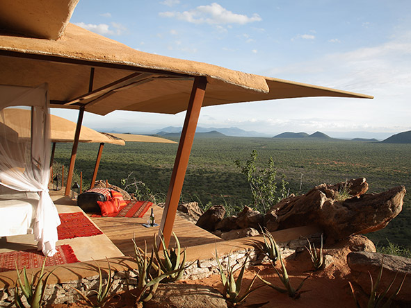 Saruni accommodation comes complete with day beds & shaded terraces - ideal for lazy afternoons on safari.