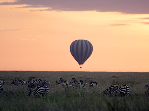 A hot-air balloon safari is just one of the activities at Lemala Ewanjan, set deep in the Serengeti.
