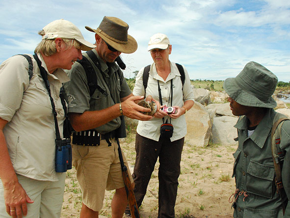Lemala guides are experts in their field & lead both 4X4 game drives & exciting bush walks.