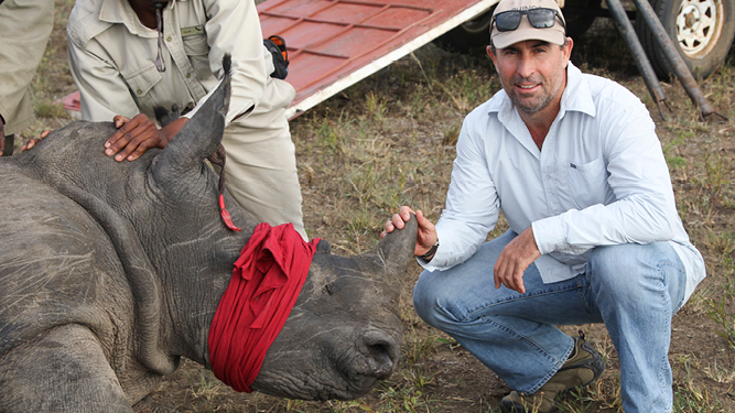 Go2Africa's Gary Lotter witnessed the first rhino relocation in February 2015.