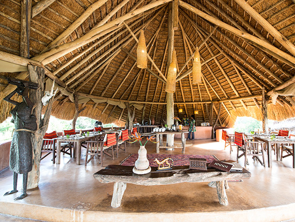 Mihingo Lodge - Main Dining Area