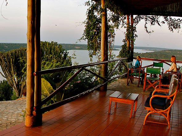 Mweya Safari Lodge - Balcony