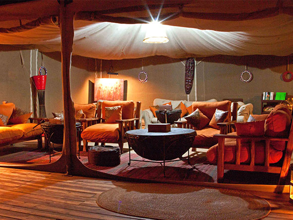 Elephant Bedroom Camp - Main Lounge