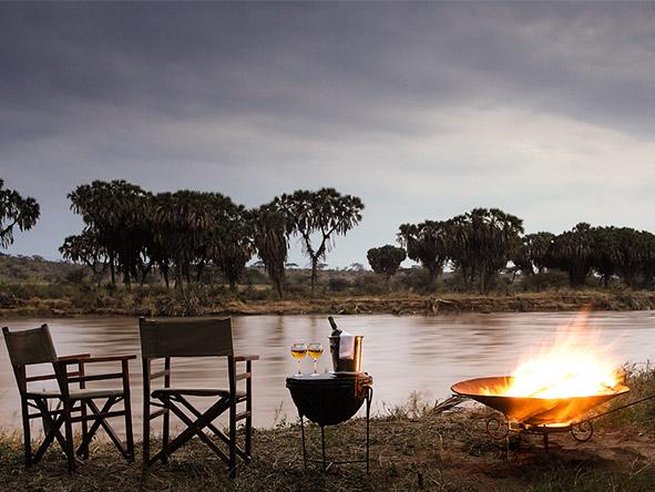 Elephant Bedroom Camp - Camp fire