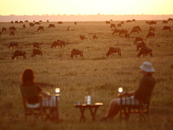 Watching the herds at sunset
