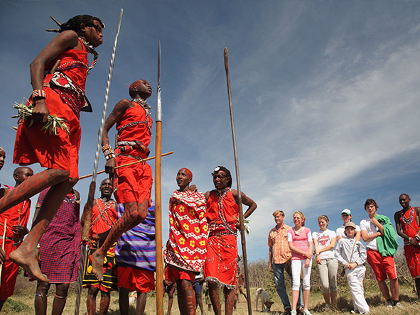 East Africa Safari - jumping Maasai