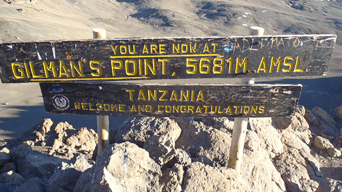 Make it Up Kilimanjaro - Gilmans Peak