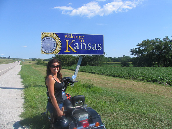 Natasha Wilmot - arriving in Kansas