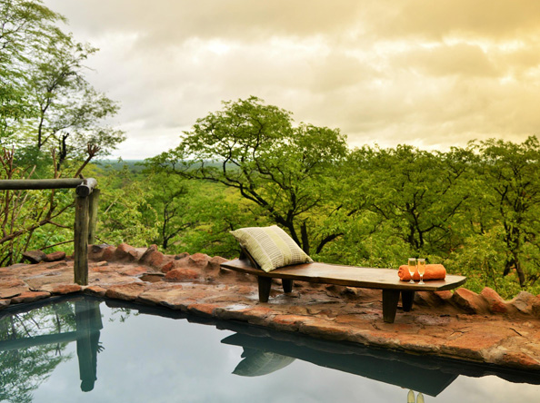 Ghoha Hills Savuti Lodge - Pool view
