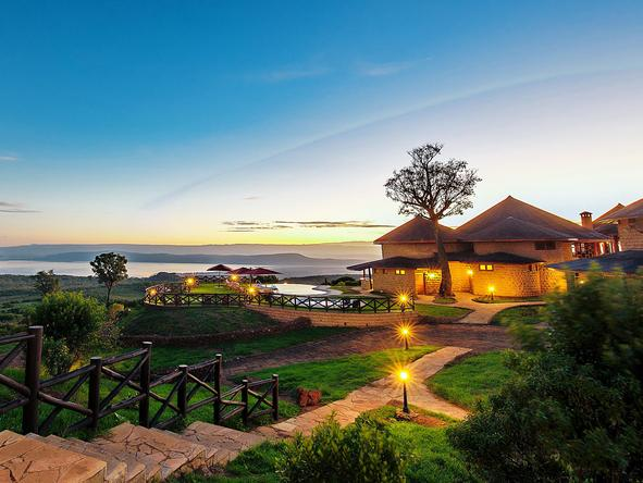 Lake Nakuru Sopa Lodge - exterior view