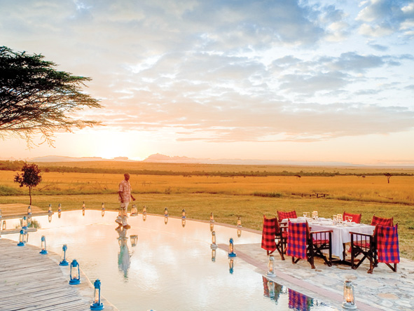 Lantern-lit dinner, Kichwa Tembo, Masai Mara
