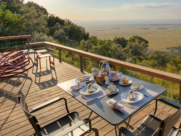 Breakfast with a view, Angama Mara