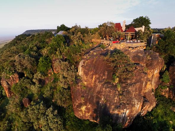 Angama Mara, cliff views