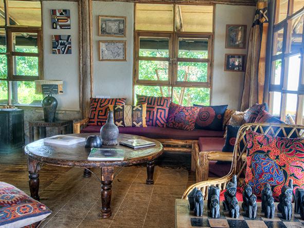 Volcanoes Virunga Lodge decor