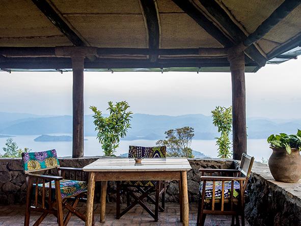 Volcanoes Virunga Lodge terrace views