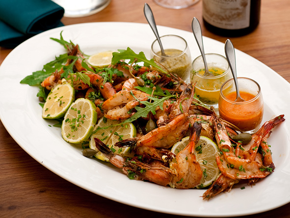 Mozambique, prawn salad
