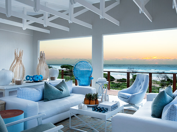 White Pearl Resort, white-washed interiors