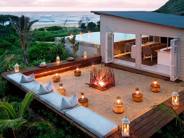 Ponta Mamoli, outdoor fire
