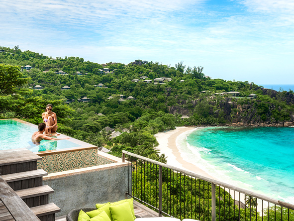 Four Seasons Resort, luxury private suite, seychelles