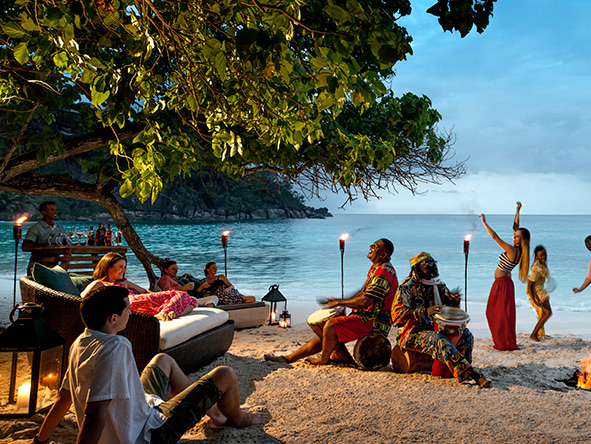 Seychelles, beach entertainment