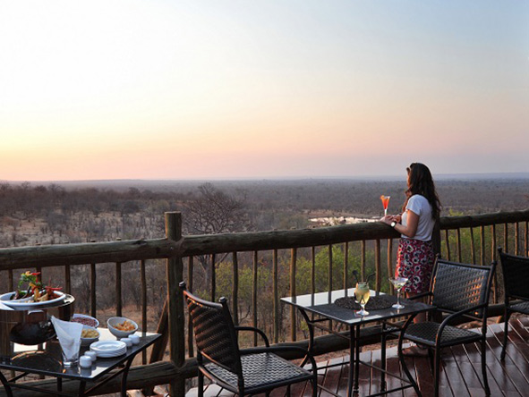 victoria falls safari club - sunset views