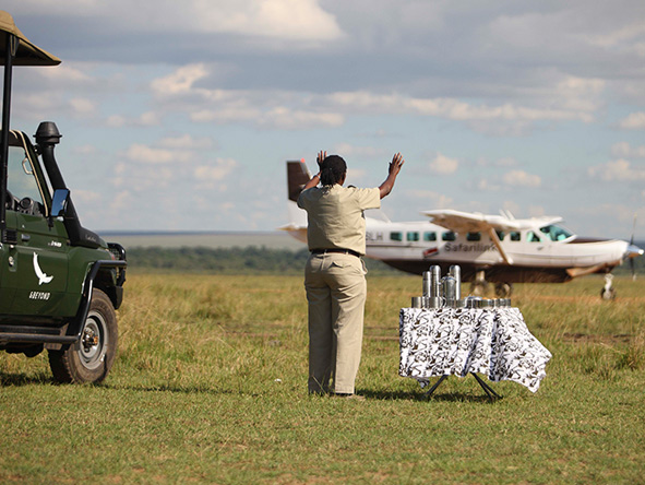 Chartered aeroplane